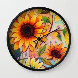 Sunflower Power 1 Wall Clock