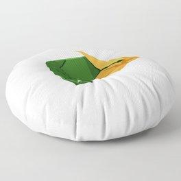 Origami Chameleon Floor Pillow