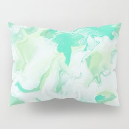 Green & White Abstract Art Pillow Sham