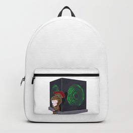 Waiting for a mad girl with red hair and her doctor Backpack
