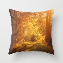 magical enchanted forest Throw Pillow