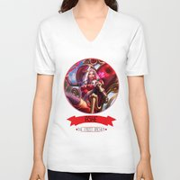 league of legends V-neck T-shirts featuring League Of Legends - Ashe by TheDrawingDuo