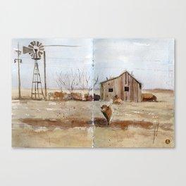 Texas farmland Canvas Print