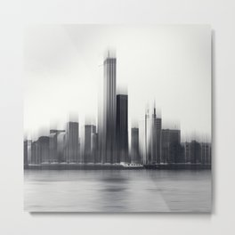 Rotterdam Skyline Abstraction Metal Print