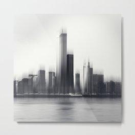 Rotterdam Skyline Abstraction Metal Print