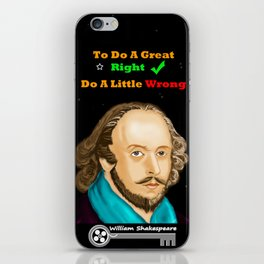 TO DO A GREAT RIGHT iPhone Skin