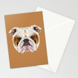 English Bulldog // Natural  Stationery Cards