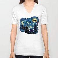 iphone 5 case V-neck T-shirts featuring Starry Knight iPhone 4 4s 5 5c 6, pillow case, mugs and tshirt by Three Second