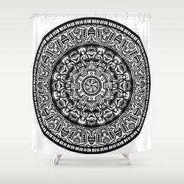 Egyptian Inspired Mandala Shower Curtain