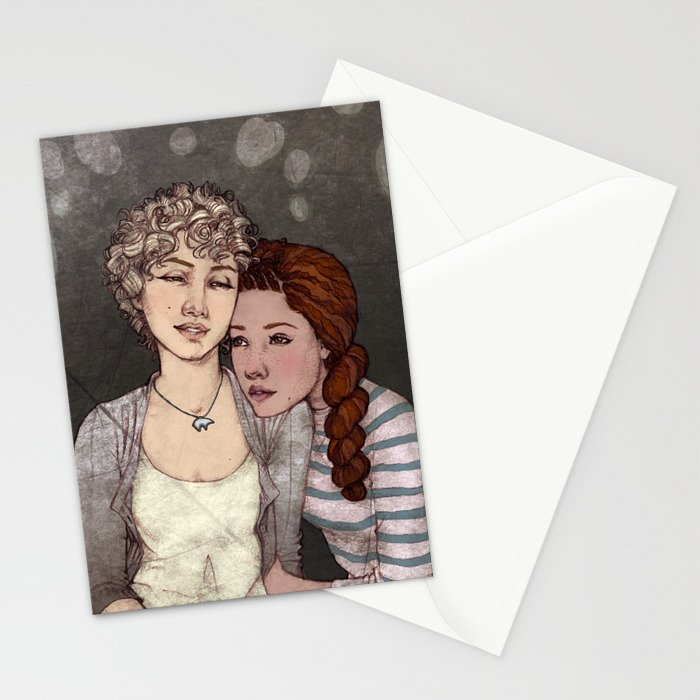 Red & White Stationery Cards