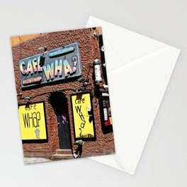 Cafe Wha? Greenwich Village NYC Stationery Cards