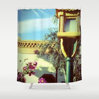 china Shower Curtains featuring China by courtneeeee
