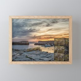 Lobster Trap sunset at lanes cove Framed Mini Art Print