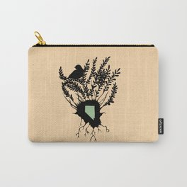 Nevada - State Papercut Print Carry-All Pouch