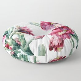 Flowering cactus Floor Pillow