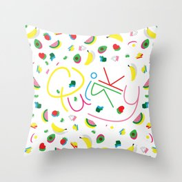Quirky Pattern Throw Pillow