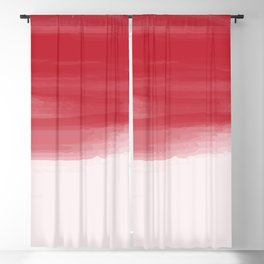 Red abstract brush strokes pattern Blackout Curtain