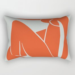 Blue Nude in Orange - Henri Matisse Rectangular Pillow