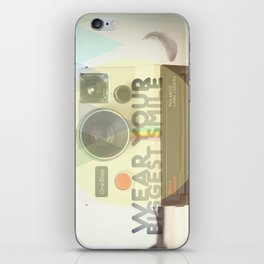 WEAR YOUR BIGGEST SMILE iPhone Skin