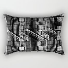 Fire escapes at noon Rectangular Pillow