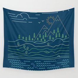 Outdoor solitude - line art Wall Tapestry