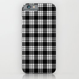 MacFarlane Black + White Tartan Modern iPhone Case