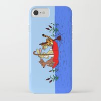 tigger iPhone & iPod Cases featuring Floating umbrella by BlackBlizzard