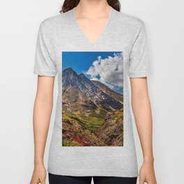 Autumn colors of the old Volсano Unisex V-Neck