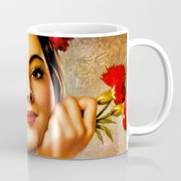 Mexican Sevillana Calendar Girl by Jesus Helguera Coffee Mug