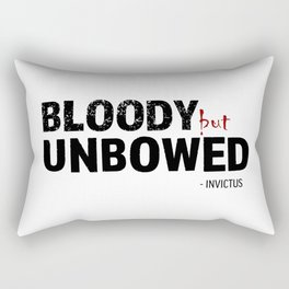 BLOODY BUT UNBOWED Rectangular Pillow