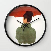umbrella Wall Clocks featuring Umbrella by Eveline