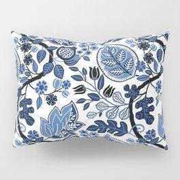 Indigo Botanical Pattern 4 Pillow Sham