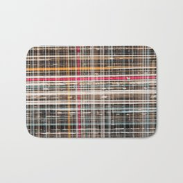 structure with red lines Bath Mat