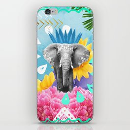 Elephant Festival - Blue iPhone Skin