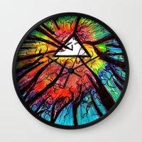 floyd Wall Clocks featuring Floyd Forest by TheSeed91