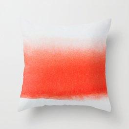 SCARLET CONTRAST STROKE Throw Pillow