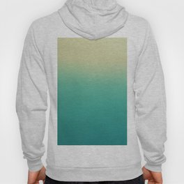 Modern turquoise lime green ombre color block pattern Hoody