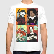 Pop mix of the some of the greats pop culture memories.  White Mens Fitted Tee MEDIUM