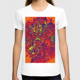 Floral Abstraction in red T-shirt