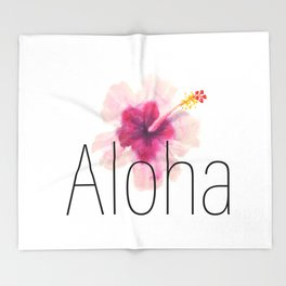 Aloha Throw Blanket