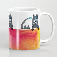 cats Mugs featuring Cats by Cat Coquillette