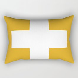 Swiss Cross Mustard Rectangular Pillow