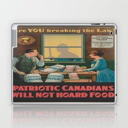 Vintage poster - Food Hoarding Laptop & iPad Skin