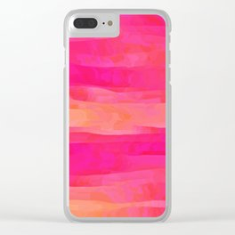 Hot Pink Magic Clear iPhone Case