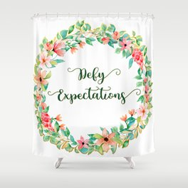 Defy Expectations - A Floral Print Shower Curtain