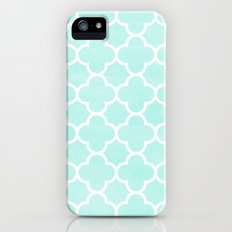 MOROCCAN {TEAL & WHITE 2} Slim Case iPhone (5, 5s)