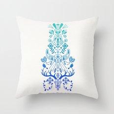 La Vie & La Mort – Blue Ombré Throw Pillow