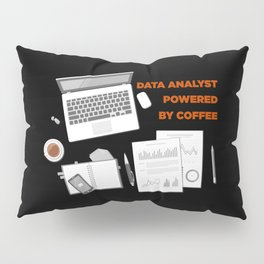 Data Analyst Powered By Coffee Pillow Sham