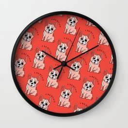 Frenchie Dog Wall Clock