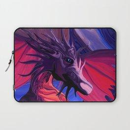Jewel Toned Dragon of the Amethyst and Ruby Caverns Laptop Sleeve